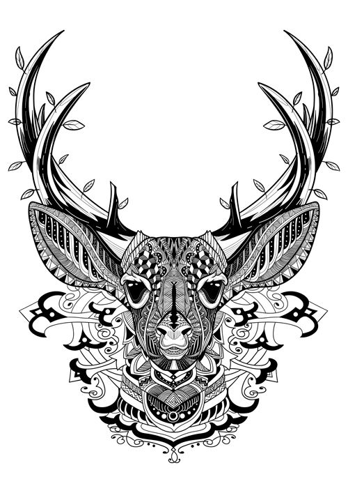17 best images about dear coloring pages on pinterest for Deer coloring pages for adults