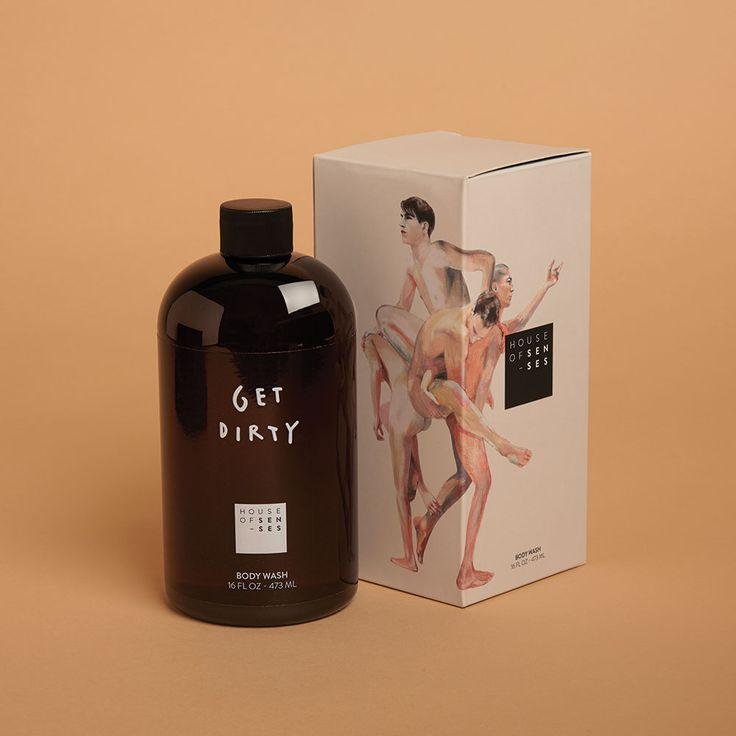 House of Senses Body Wash Skincare Packaging, Beauty Packaging, Cosmetic Packaging, Chocolate Packaging, Coffee Packaging, Bottle Packaging, Food Packaging Design, Brand Packaging, Label Design