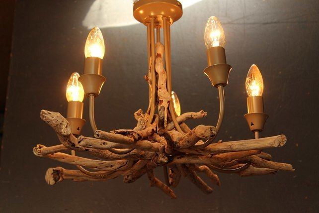 Driftwood Chandelier,Five light driftwood pendant,Drift Wood Light fitting