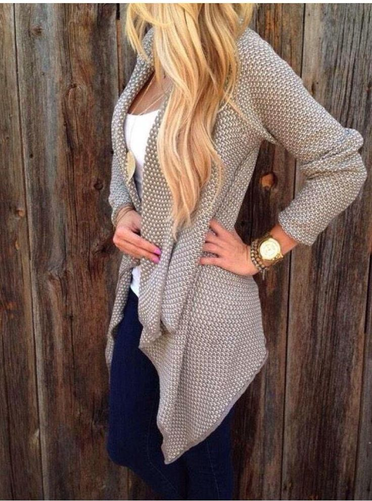 Need one of these long cardigans.