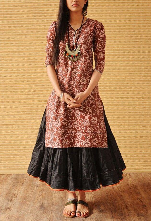http://indianaana.com/apparel/kurtas/sunburn-rust-chanderi-blush-kurta.html