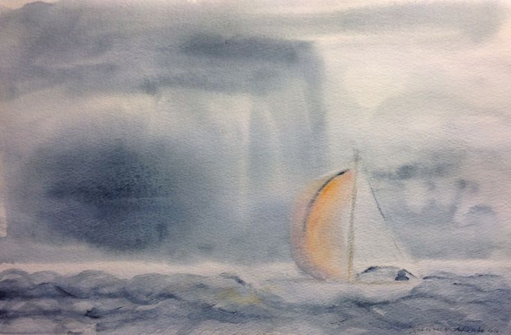 Watercolor 2016, sign by Gabriella Alanko