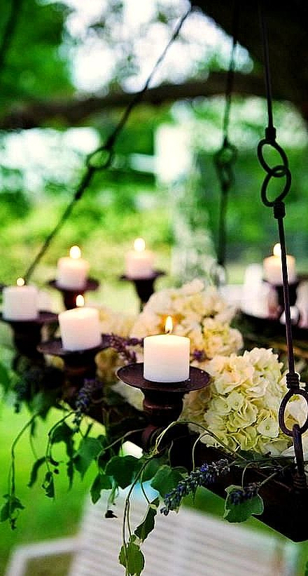 Hanging Outdoor Candle Chandelier.....