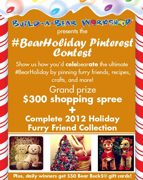 Daily prizes in #BearHoliday Pinterest Contest!