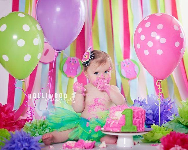 holliwood photography first birthday yumyum smash cake