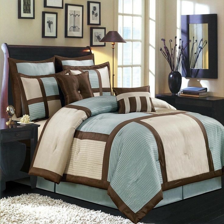 Morgan Sage Brown And Cream King Size Luxury 8 Piece Comforter Set Includes  Comforter Bed Skirt Pillow Shams Decorative Pillows ** ON SALE Check It Out