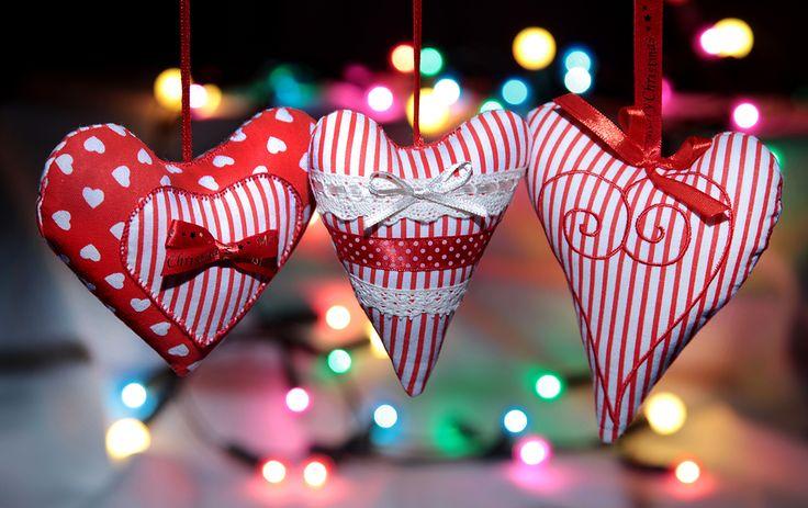 ...serduszka,bombki na choinkę,ozdoby świąteczne,Boże Narodzenie...rękodzieło...Merry   Christmas...handicraft...baubles...