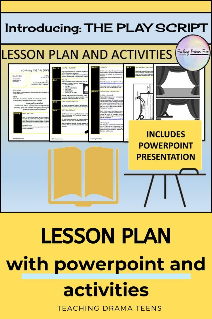 Introducing The Play Script Lesson Plan And Powerpoint Teaching Drama Drama Education Teacher Presentations [ 1104 x 736 Pixel ]
