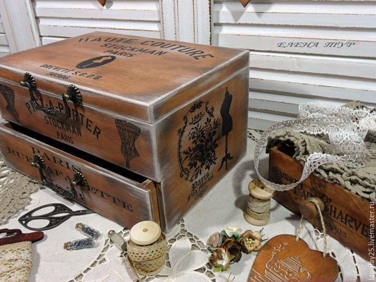 """Купить """"Haute couture-2"""" мини-комод - коричневый, комод, комодик, комодик для украшений"""
