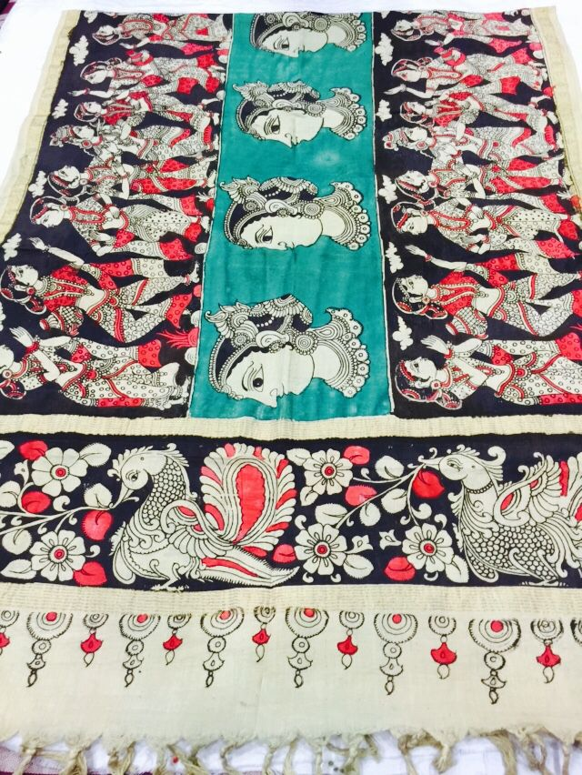 Manufacturers/Wholesalers/Suppliers & Distributors of Authentic and Real hand painted PURE MANGALGIRI HANDLOOM COTTON penkalamkari dupattas.Bulk Buyers/retail outlets/boutiques/shops/online sellers/wholesalers/traders and exhibitors.For trade inquiries Contact Rushabh Sutaria +919909272587(WhatsApp) #kalamkari #penkalamkaridupattas #mangalgiricotton #dupattas