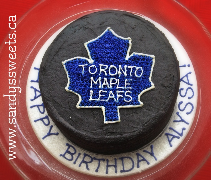 Hockey Cake - Maple Leafs