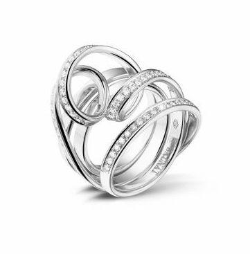 Dancing Lady Collection - 0.77 ct Pave Diamond Design Ring -   www.baunat.com