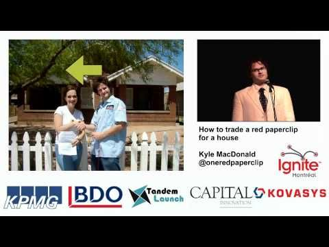 paper clip to house Trading a paperclip for a house by kyle macdonald - duration: 5:29 ignite 703,431 views 5:29 abc 20/20 hedge fund to pizza delivery - duration: 7:56 zeekerbolero5 64,527 views 7:56 20/20 myth: dropping a penny from a tall building is deadly - duration: 3:07.