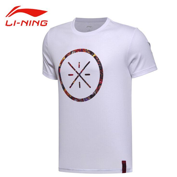 Li-Ning Men's Wade Basketball Jerseys Li Ning Breathable Cotton Sports T-shirts LiNing Short Sleeve Sportswear Tops Tees AHSM319