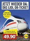 #Ticket  1x LIDL DB-Ticket 1 Fahrt durch ganz Deutschland! Blitzversand! #belgium
