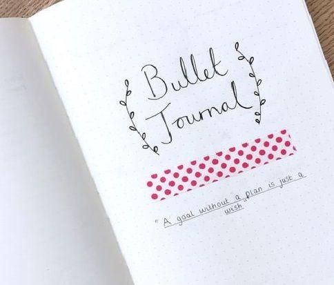 Bullet Journal. organización creativa con una simple libreta. Cómo empezar un Bullet journal