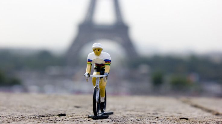 World Champion cycling figurine. Hand painted in a 12 stage process in France, each one is a little collectible work of art. Strictly limited to 500 units world wide. Available at www.bicycleage.com