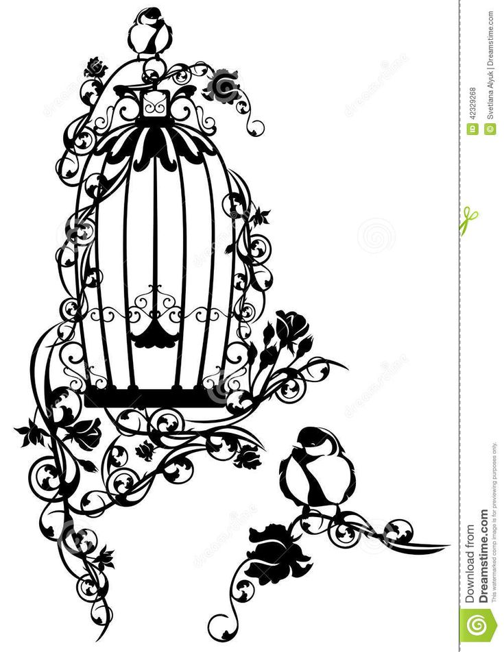 Open Birdcage Silhouette 17 Best ideas about Bi...