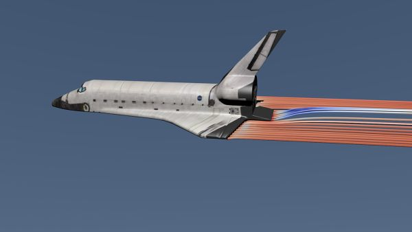 Space Shuttle Simulation Rendered with Blender. Donwload simulation/render files here: http://fetchcfd.com/view-project/332