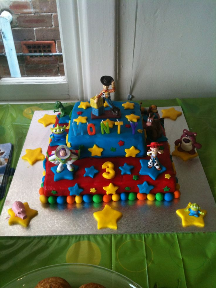Monty's third birthday cake. It was a Toy story themed cake