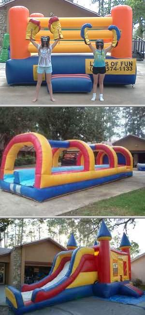 Leaps of Fun Inc. provides cheap bounce house rentals for corporate events, fundraisers, grand openings and birthday parties. They also offer inflatable, moon walk and jumper rentals among others.