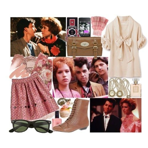 Pretty in pink movie inspired fashion style i love the 80s wild and crazy fashion trend Style me pink fashion show
