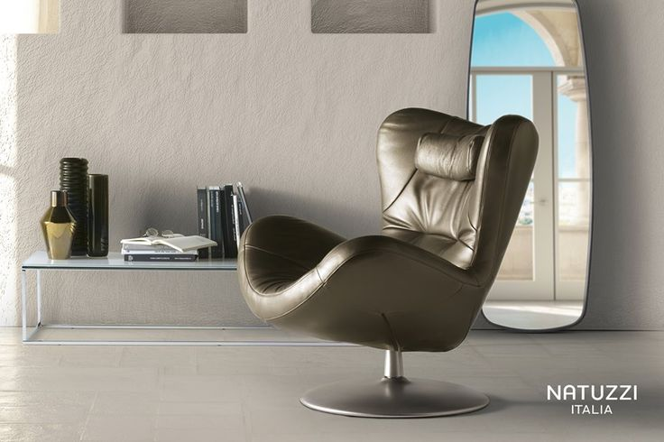 An exclusive relaxation experience: Sound embraces body and mind with a feeling of softness creating a new dimension of physical and mental comfort.  Natuzzi #ItalianDesignerFurniture #LuxuryArmchair