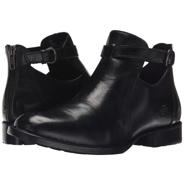 Born Posh Women's Shoes (195 AUD) ❤ liked on Polyvore featuring shoes, boots, ankle booties, low heel bootie, low heel boots, bootie boots, short boots and low heel ankle boots