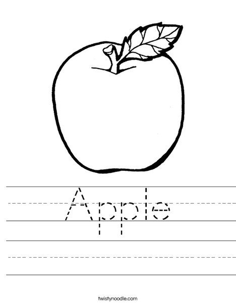 Apple Worksheet Twisty Noodle has TONS of worksheets