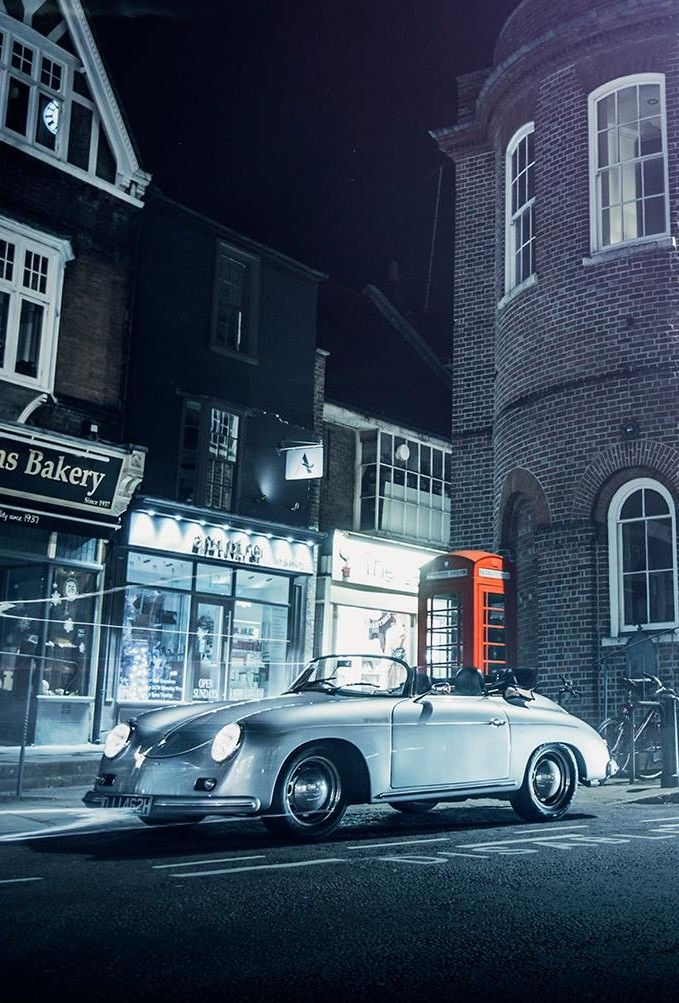 Porsche 356... And a British phone box... Perfection.. :)