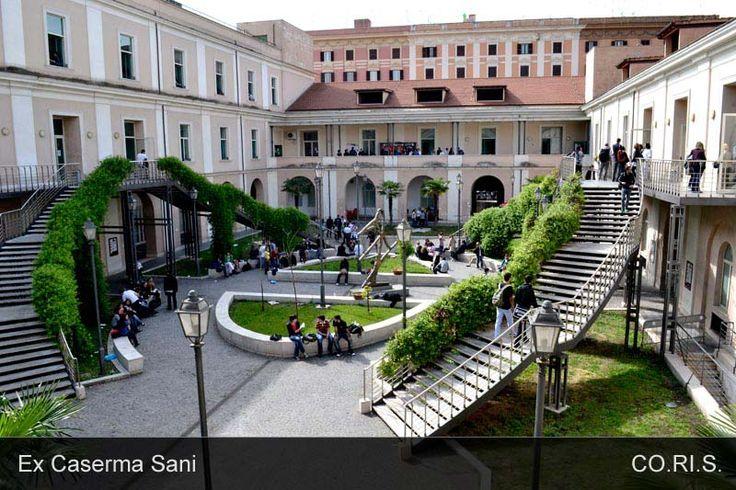 Il cortile di Via Principe Amedeo 184 - Ex Caserma Sani