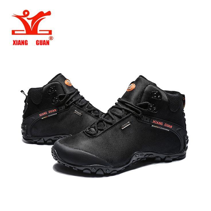 XiangGuan high top Hiking shoes,mens Waterproof hiking boots outdoor Athletic terrking shoes women's camping walking shoes
