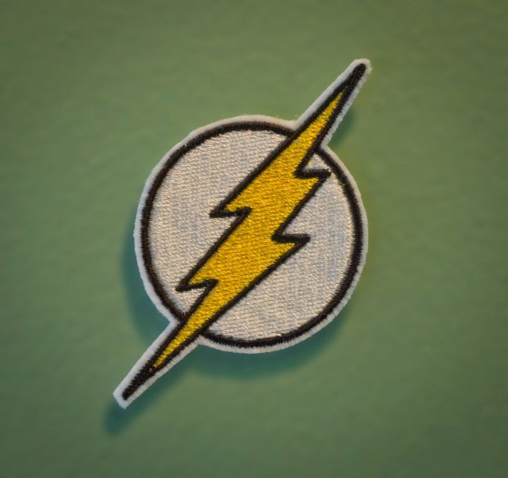 The Flash Emblem - Iron-on Embroidered Comic Book Patch by OKsmalls on Etsy https://www.etsy.com/listing/102338683/the-flash-emblem-iron-on-embroidered