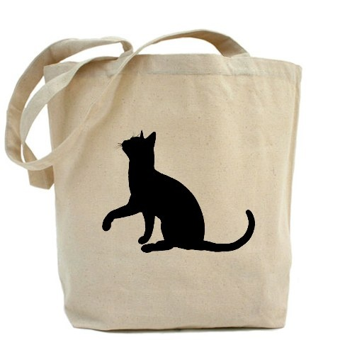 Black Cat Silhouette Tote bag from Cafe Press. $17