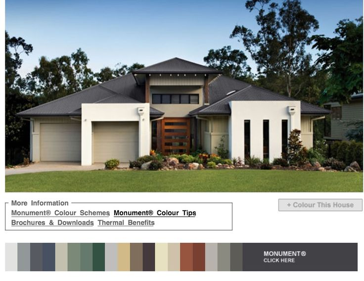 15 best images about house and roof colors on pinterest british australia and first home for Colorbond colour schemes exterior
