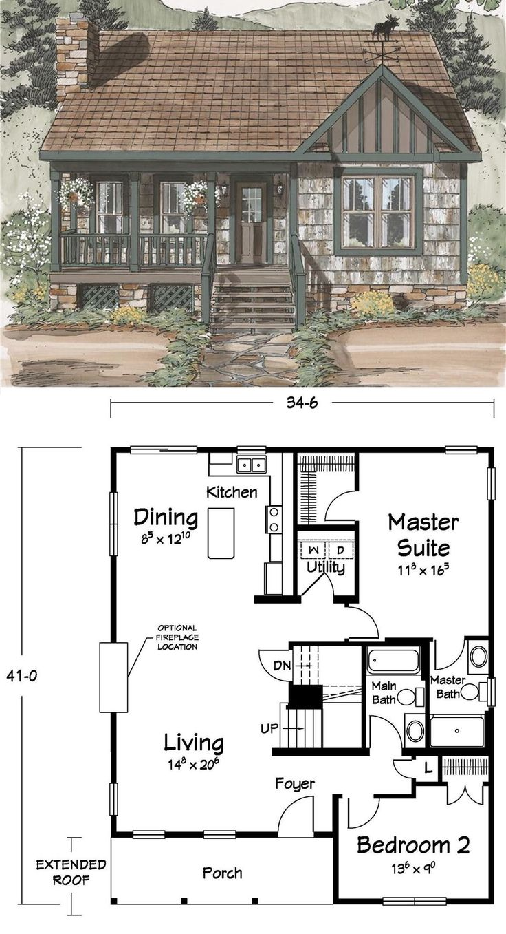 14 best 20 x 40 plans images on pinterest small home for Planimetria di cottage calabash