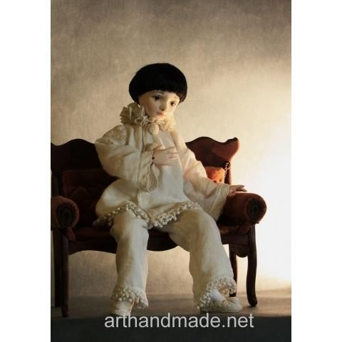 Doll Pierrot, BJD. Author Elena Knyazeva - http://arthandmade.net/knyazeva.elena  Doll, ball-jointed doll, BJD, collectible doll, handmade doll, gift, originalgift, craft, handmade, collection, Gallery Magical World, кукла, купить куклу, шарнирная кукла, коллекционная кукла, кукла ручной работы, подарок, оригинальный подарок, ручная работа, коллекция, Галерея Волшебный мир