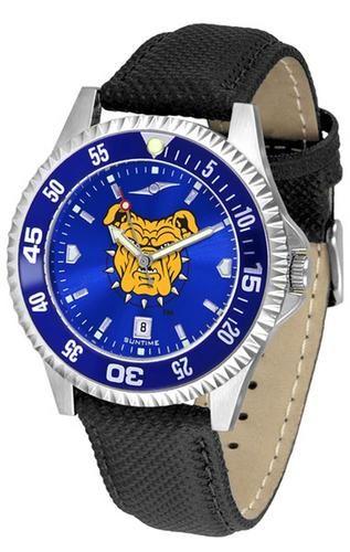 North Carolina A&T Aggies Leather Watch Suntime AnoChrome Logo Timepiece