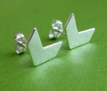 Chevron Post Earrings