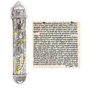 What is a mezuzah and how do I fulfill the commandment?: A mezuzah case and parchment (klaf).
