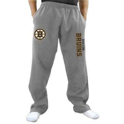 Boston Bruins Two Hit Fleece Pants - Gray