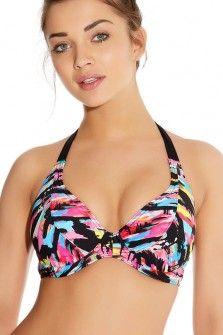 Freya Venice Beach Graffiti Underwired Padded Banded Halter Bikini Top
