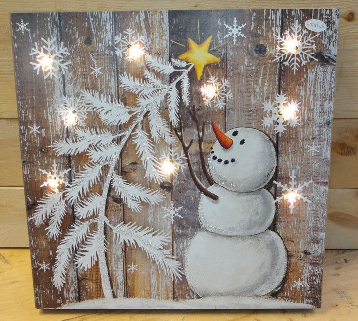 """ Snowman and Christmas Tree"" LED Lighte…"