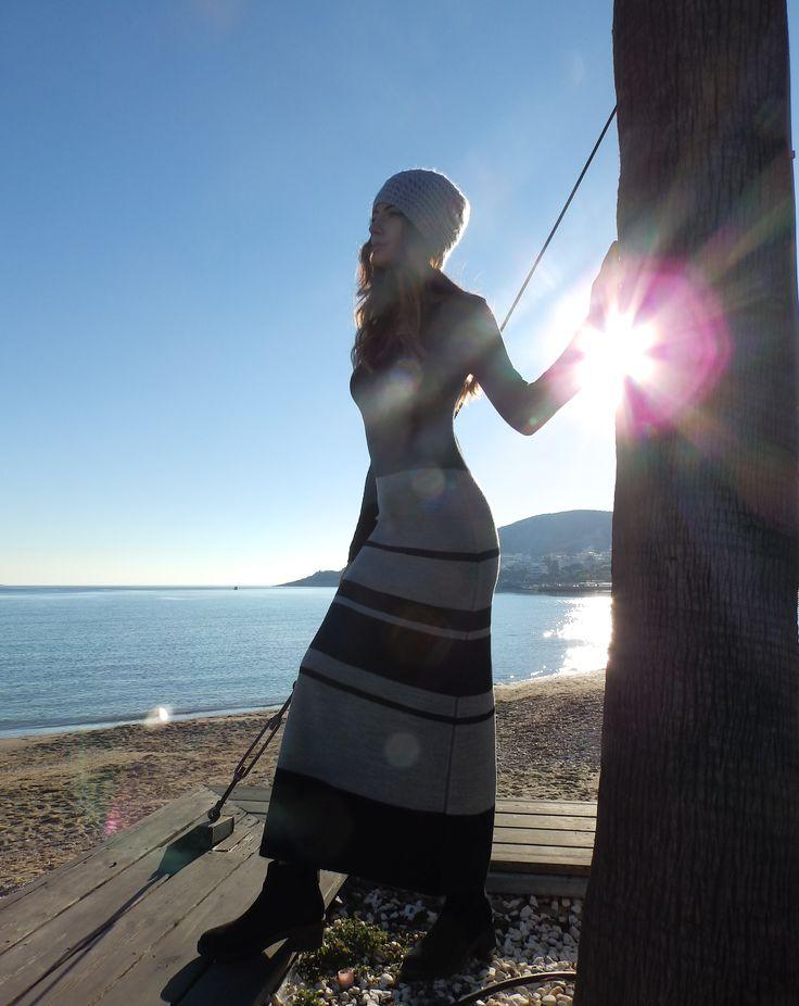 Knit dress by Nima #greekknit #knitwear