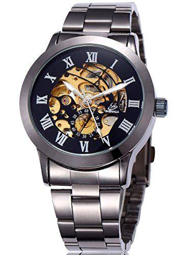 Alienwork mechanische Automatik Armbanduhr Skelett Automatikuhr Uhr schwarz Metall W9269-04 - http://on-line-kaufen.de/alienwork/alienwork-mechanische-automatik-armbanduhr-uhr-2