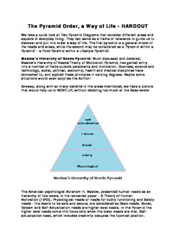 The Pyramid Order, a Way of Life - HANDOUTWe take a quick look at Two Pyramid…