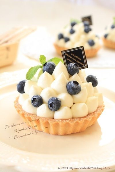 Blueberry cassis cheese tartlet