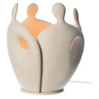 Lámpara de mesa en gres H 28 cm. marfil | venta online en HOLYART