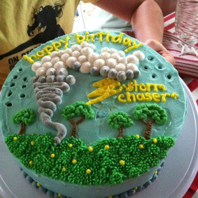 storm chaser party | Tornado Cake For My Storm Chaser Birthday Party Ideas Pin