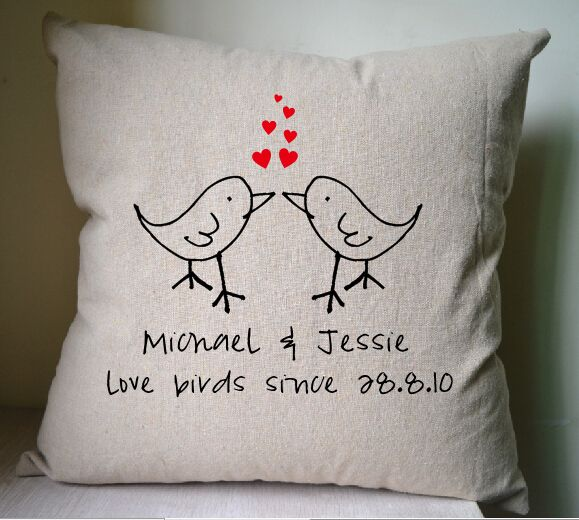 Birds pillow cover,Personalized pillow cover,pillow case,cushion cover,home decor